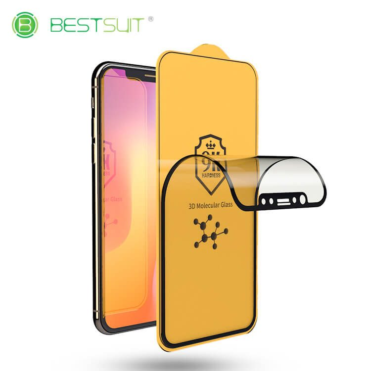 iPhone xs 9H 3d molecular glass screen protector wholesale